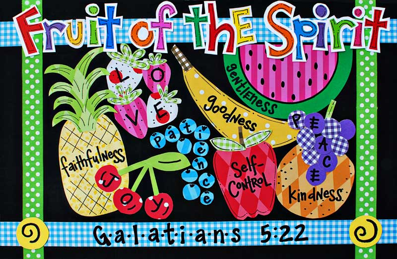 Fruit Of The Spirit Placemat Tabletop Truths