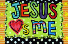 Jesus Loves Me (Back of Placemat)